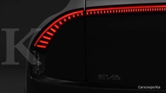 Mobil listrik Kia EV6 terungkap dalam sebuah teaser