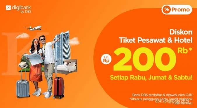 Pengguna Kartu Kredit Digibank, Ada Diskon s.d Rp200ribu dari PegiPegi