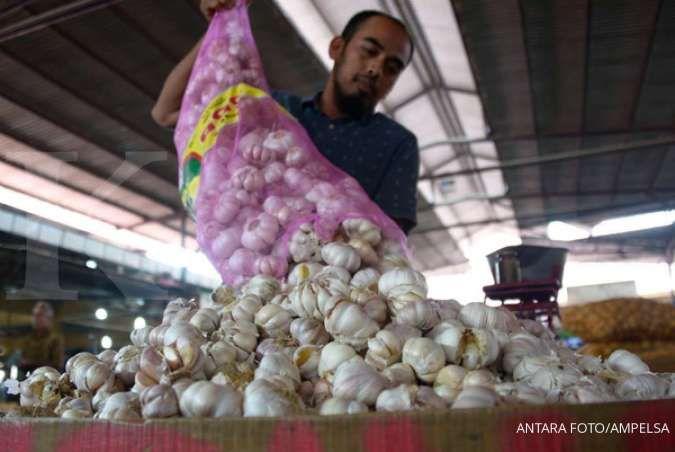 Gara-gara virus corona, harga bawang putih di Tangerang naik tiga kali lipat
