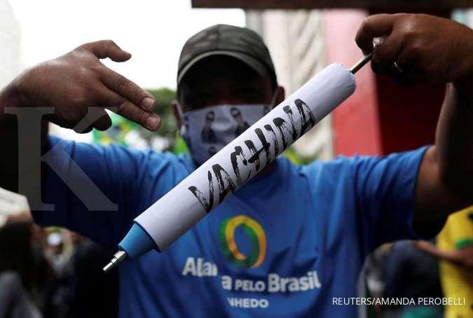 Kasus kematian akibat COVID-19 di Brasil terus melonjak