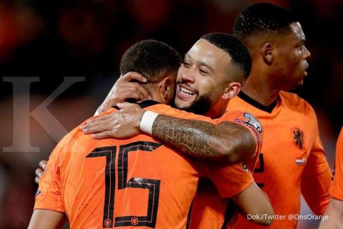 Belanda vs Gibraltar di kualifikasi Piala Dunia 2022: Der Oranje bantai Crusaders 6-0