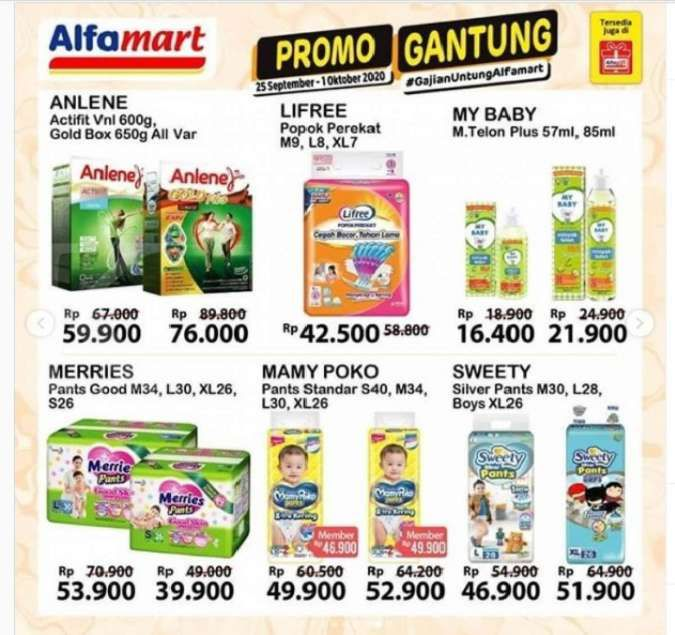 Promo Alfamart hari ini 30 September 2020