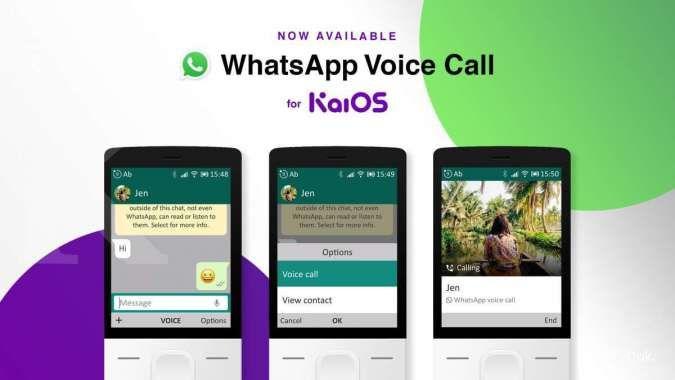 WhatsApp kini bisa lakukan panggilan telepon di perangkat KaiOS RAM 512MB
