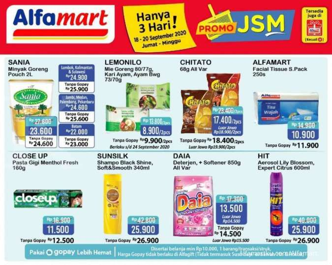 Promo JSM Alfamart 18-20 September 2020