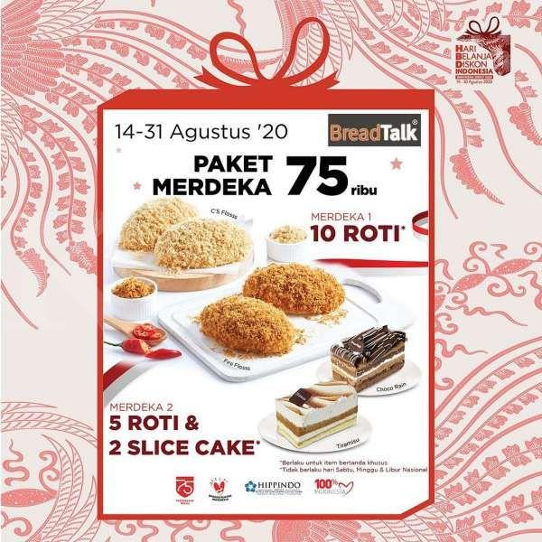 Promo Breadtalk Periode 14 31 Agustus 2020 Paket Merdeka Rp 75 Ribu