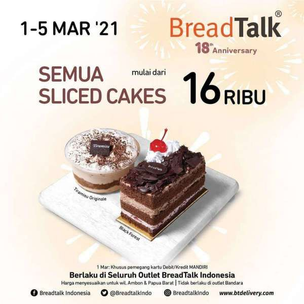 Promo BreadTalk periode 1-5 Maret 2021