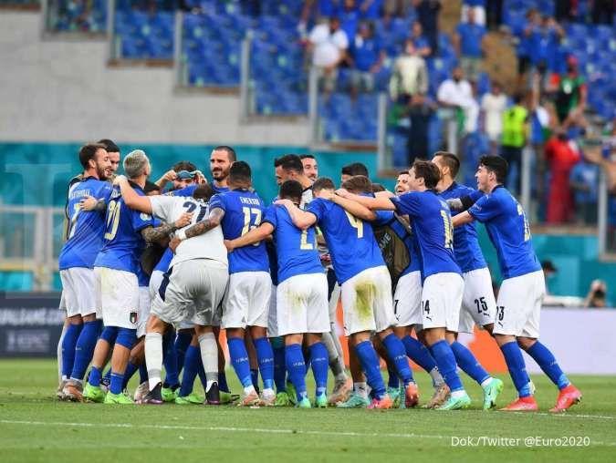 Hasil Euro 2020 di Grup A: Italia dan Wales ke 16 besar, Swiss tunggu grup lain