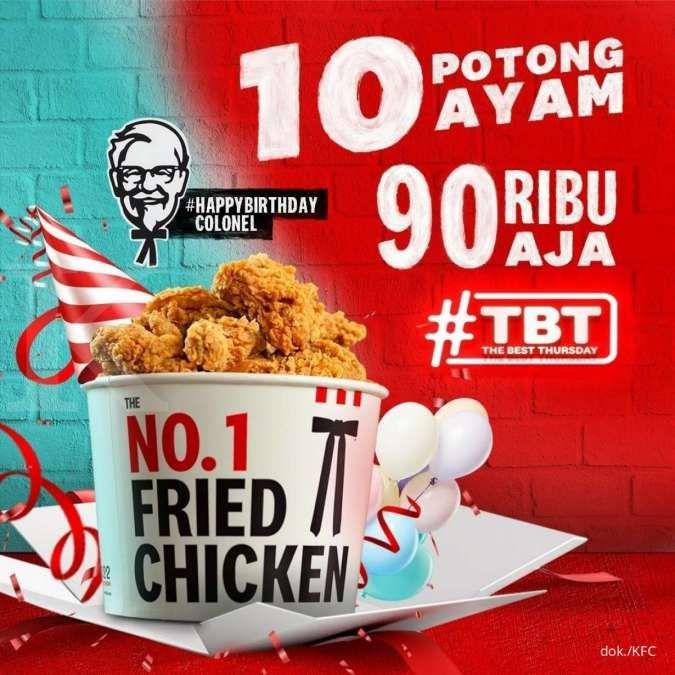 KFC 9.9 Setiap Kamis Promo The Best Thursday TBT 10 Ayam Rp 90.000 Hadir