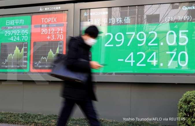 Bursa Asia menguat, mengikuti kenaikan Wall Street