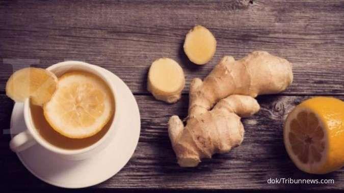 Wedang lemon dengan jahe bisa membantu mengecilkan perut buncit