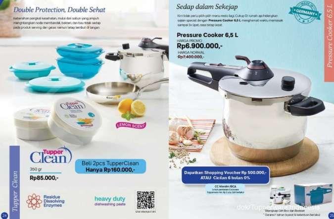 Katalog promo Tupperware Agustus 2020 khusus alat masak dan bikin kue, banyak diskon