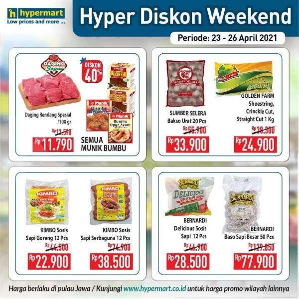Terbaru! Promo JSM Hypermart 23-26 April 2021, Hyper Diskon Weekend