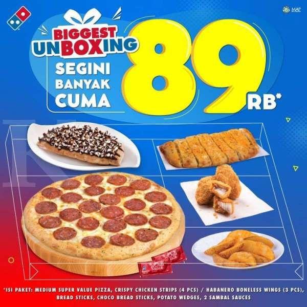Promo Domino's Pizza 'Biggest Unboxing'