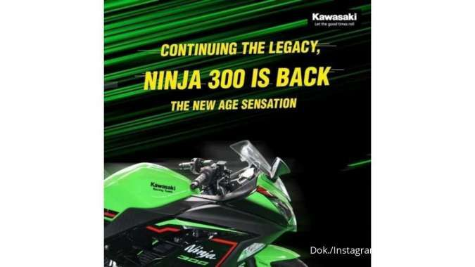 Varian Kawasaki Ninja 300 terbaru dirilis di India