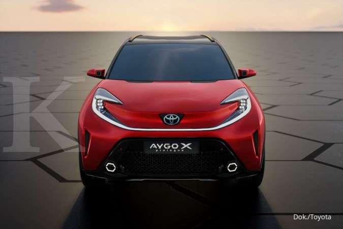 Konsep mobil Toyota Aygo X-Prologue tampak dalam wujud asli