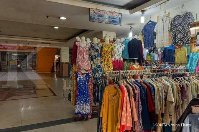 Begini kondisi pedagang pakaian yang terpaksa tutup ketika PPKM darurat