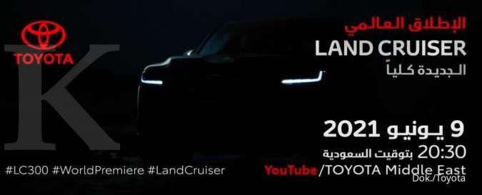Teaser mobil Toyota Land Cruiser terbaru