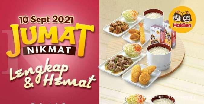 Jumat nikmat dengan harga Rp 99.000, cek promo HokBen terbaru 10 September 2021