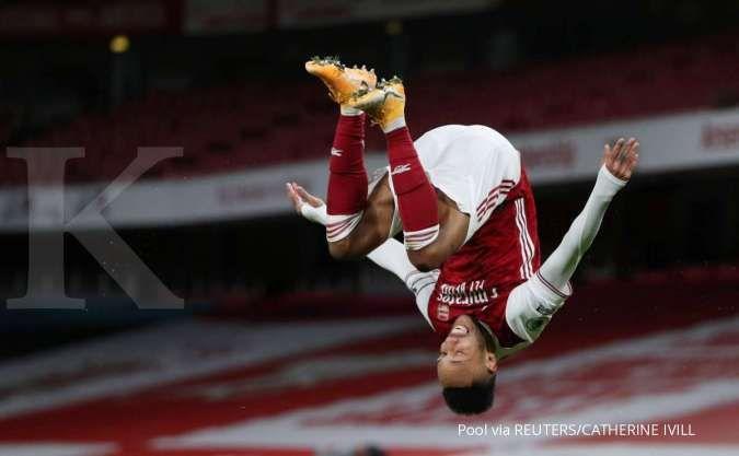 Pierre-Emerick Aubameyang diperkirakan absen di laga Southampton vs Arsenal di Liga Inggris