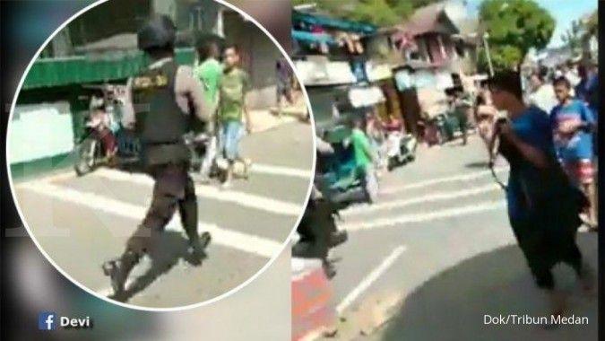 Kronologi saat pelaku melakukan aksi bom bunuh diri di Polrestabes Medan