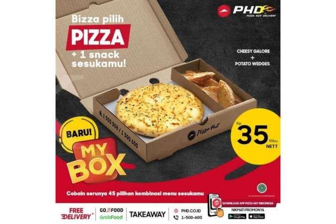 Promo Pizza Hut Delivery hari ini 4 Juli 2021, paket My Box cuma Rp 35.000 saja!