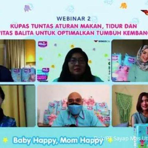Popok Baby Happy Edukasi Pola Makan, Tidur dan Aktivitas Balita untuk Optimasi Tumbuh Kembang Anak
