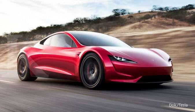 Eksterior mobil listrik Tesla Roadster yang akan diluncurkan di tahun 2022