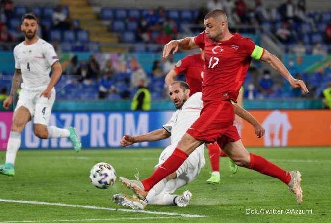Hasil laga Turki vs Italia di laga Euro 2021 Grup A