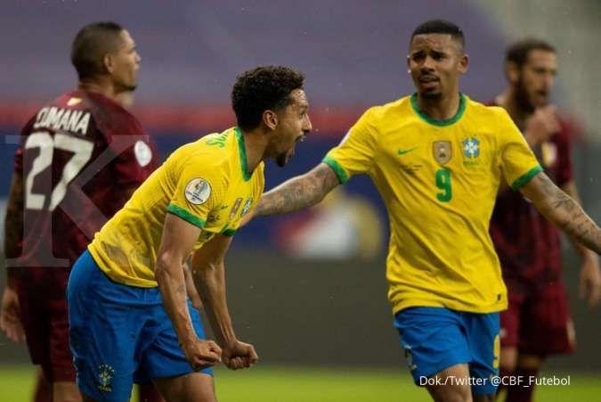 Hasil Brasil vs Venezuela di Copa America 2021