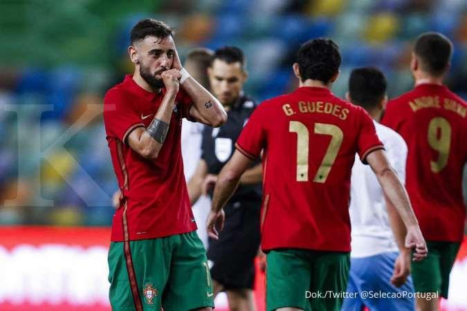 Portugal vs Israel: Tekuk Blue and Whites 4-0, Selecao memukau jelang Euro 2021