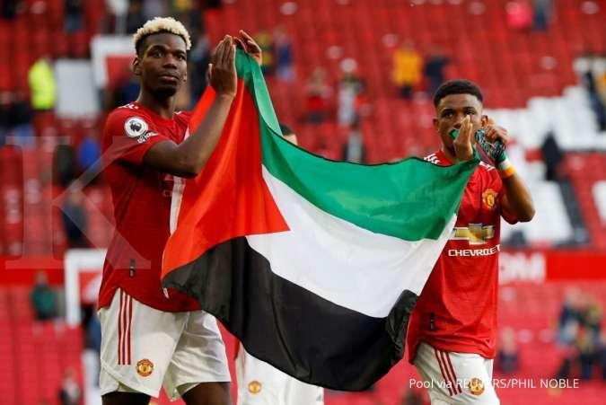 Pogba dan Diallo kibarkan bendera Palestina usai laga ...