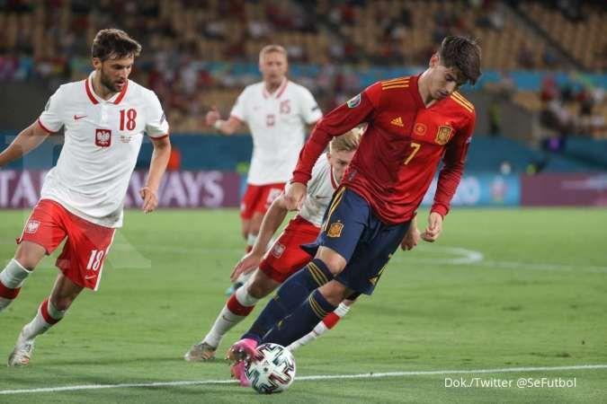 Hasil Euro 2020 Spanyol vs Polandia di Grup E