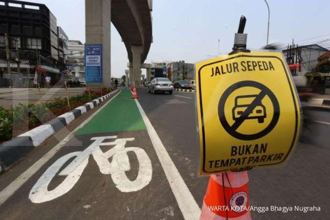 Jalan Sudirman-Thamrin punya jalur khusus sepeda, siap dipakai gowes