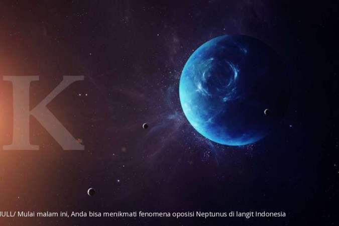 Mulai malam ini, Anda bisa menikmati fenomena oposisi Neptunus di langit Indonesia