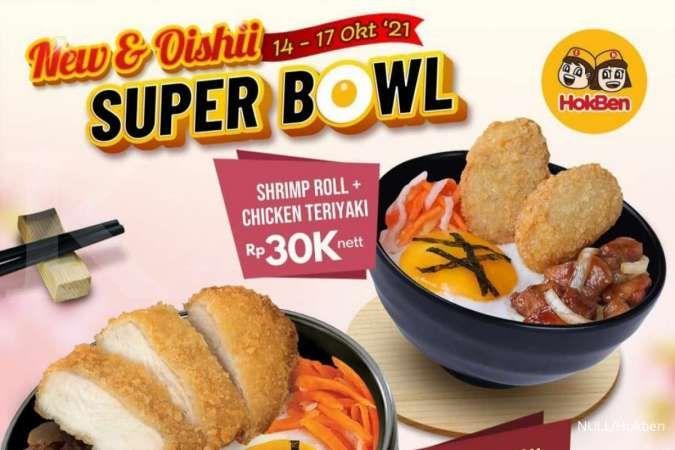 Promo Hokben Weekend, Super Bowl Terbaru & Lengkap Hanya Rp 30.000-an