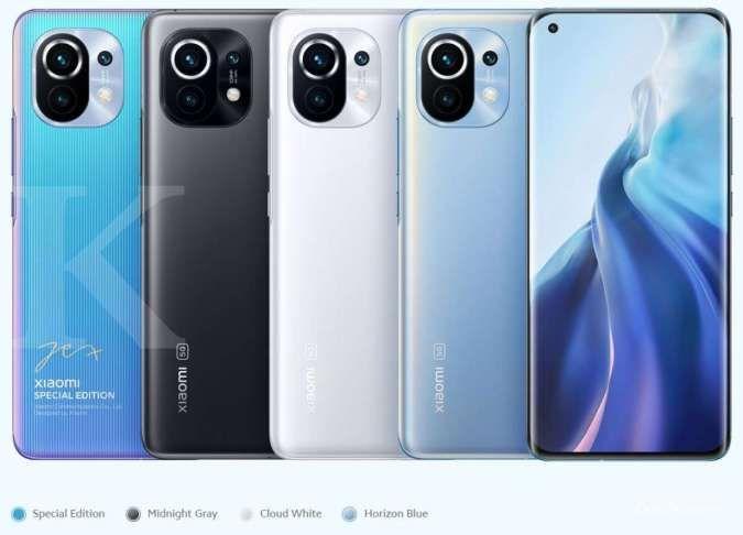 Varian warna Xiaomi Mi 11
