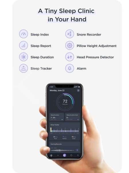 Fitur aplikasi bantal pintar Zerema