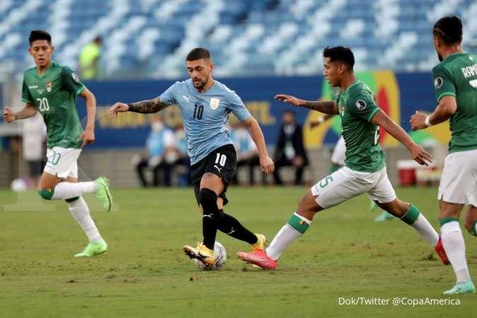 Hasil Copa America 2021 Bolivia vs Uruguay di Grup A