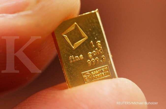 Harga emas spot perkasa usai ditutup menguat ke US$ 1.797 per ons troi