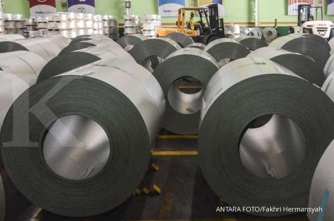 Pelemahan kurs rupiah semakin menekan industri baja di tahun ini