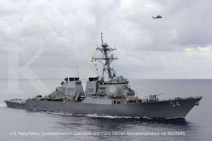 Tegang! China siaga tinggi saat kapal perusak AS berlayar di Selat Taiwan