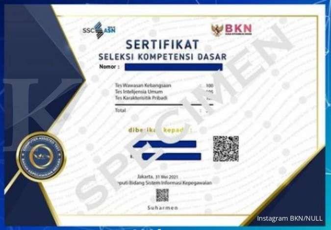 Sudah ikut tes SKD? Ini cara download sertifikat hasil tes SKD CPNS 2021