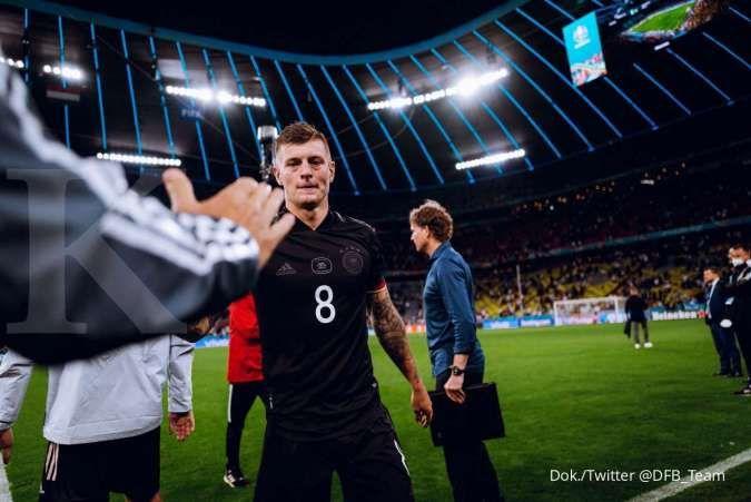 Toni Kroos bakal pensiun dini dari timnas, buntut Jerman tersingkir di Euro 2020