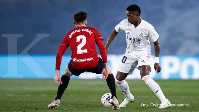Hasil laga Real Madrid vs Osasuna di La Liga Spanyol