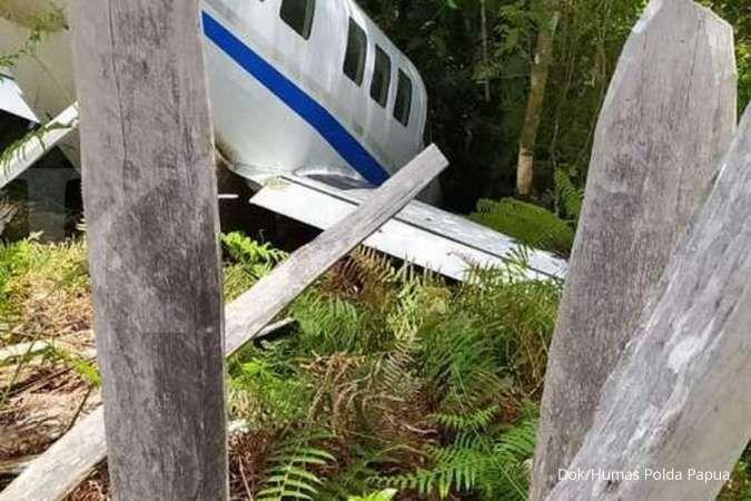 Pesawat pembawa paket sembako bantuan sosial (bansos) tergelincir di Papua