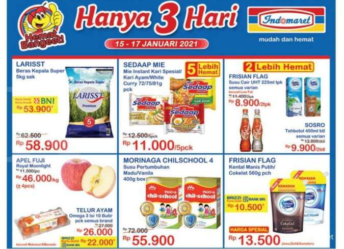 Promo JSM Indomaret 16 Januari 2021, diskonan weekend lagi!
