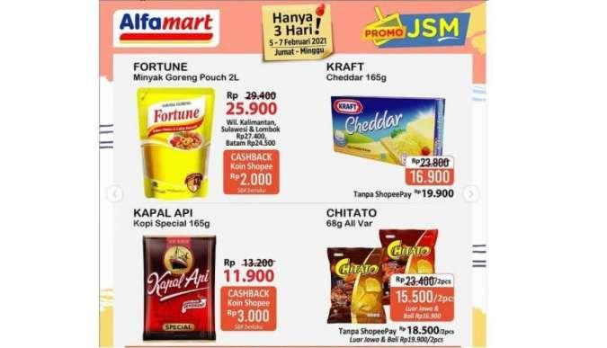 Promo JSM <a href='https://pekanbaru.tribunnews.com/tag/alfamart' title='Alfamart'>Alfamart</a> Promo 5-7 Februari 2021