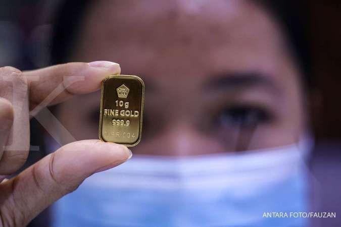 Harga emas hari ini (22/10) di Butik Emas Antam mengalami penurunan sebesar Rp. 1.000 per gram