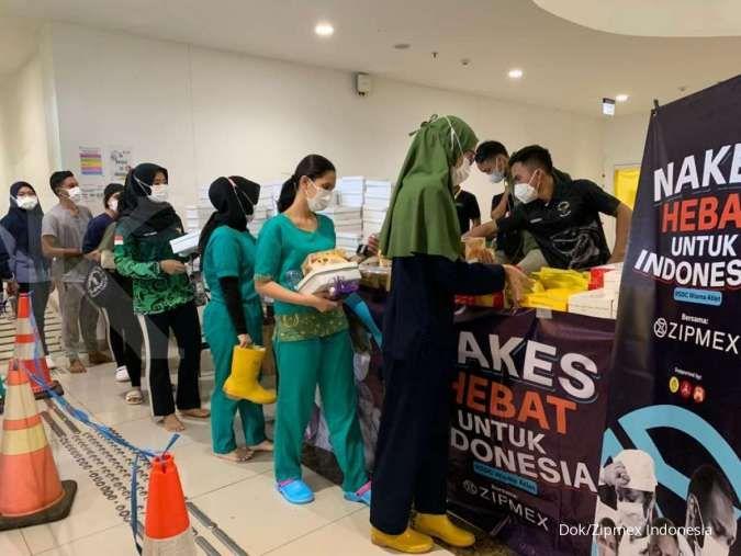 Apresiasi nakes, Zipmex Indonesia bagikan 3.000 makanan siap santap di Wisma Atlet