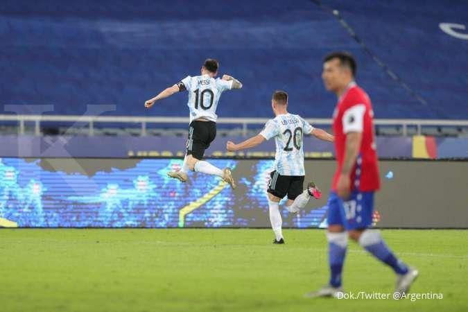 Copa America 2021 Argentina vs Chile: Imbang 1-1, La Roja tahan laju La Albiceleste